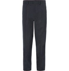 Mr P. Pleated Wool and Cotton-Blend Twill Trousers