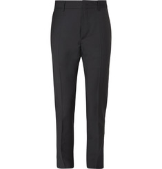 Valentino Americana Grosgrain-Trimmed Wool and Mohair-Blend Trousers