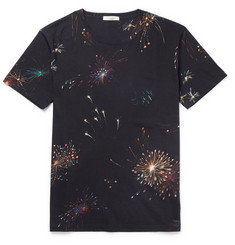 Valentino Slim-Fit Firework-Print Cotton-Jersey T-Shirt