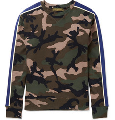 Valentino Slim-Fit Camouflage-Print Cotton-Blend Jersey Sweatshirt