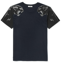 Valentino - Slim-Fit Panther-Print Cotton-Jersey T-Shirt