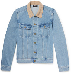 A.P.C. - Howl Corduroy-Trimmed Denim Jacket