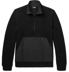 A.P.C. - Summit Textured Wool-Blend Half-Zip Sweater