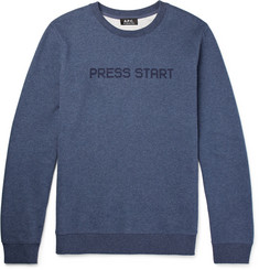 A.P.C. Printed Fleece-Back Cotton-Jersey Sweatshirt