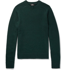 A.P.C. Jon Merino Wool and Yak-Blend Sweater
