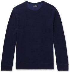A.P.C. Jeremie Cotton-Blend Terry Sweatshirt