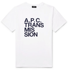 A.P.C. Transmission Printed Cotton-Jersey T-Shirt