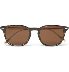 Oliver Peoples Heaton D-Frame Two-Tone Tortoiseshell Acetate Sunglasses