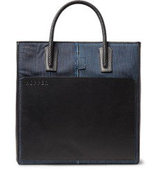 Hopper - Patchwork Cotton and Leather Tote Bag