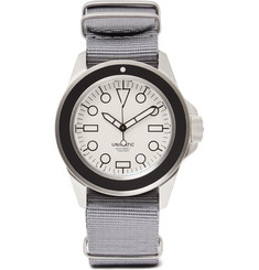 Unimatic Modello Uno U1-DW Automatic Brushed Stainless Steel and Webbing Watch