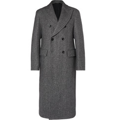 Joseph Glastonbury Double-Breasted Cotton-Blend Overcoat