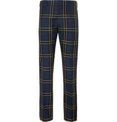 Joseph Navy Jack Slim-Fit Prince of Wales Checked Cotton-Twill Trousers
