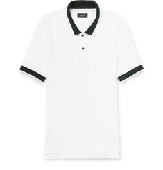 Joseph Contrast-Tipped Cotton-Piqué Polo Shirt