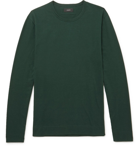 Mercerised Cotton-jersey T-shirt - Green