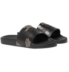 Valentino - Camouflage-Print Rubber Slides