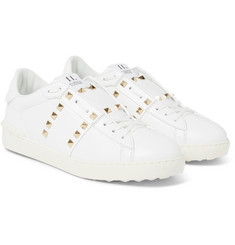 Valentino Rockstud Untitled Leather Sneakers