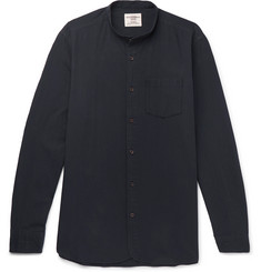 Kent & Curwen Grandad-Collar Cotton Shirt