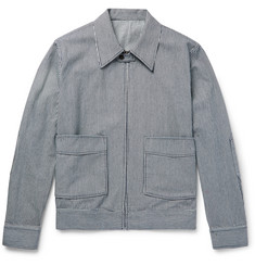 Kent & Curwen Striped Cotton Blouson Jacket