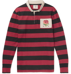 Kent & Curwen Appliquéd Striped Cotton-Jersey Polo Shirt