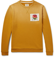 Kent & Curwen - Appliquéd Dégradé Loopback Cotton-Jersey Sweatshirt