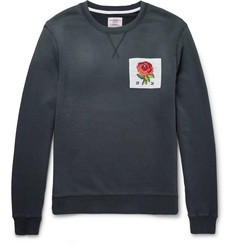 Kent & Curwen Appliquéd Loopback Cotton-Jersey Sweatshirt