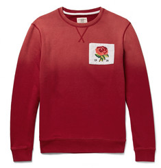 Kent & Curwen Appliquéd Dégradé Loopback Cotton-Jersey Sweatshirt