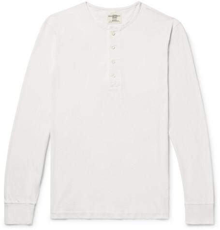 Cotton Jersey Henley T Shirt by Kent & Curwen