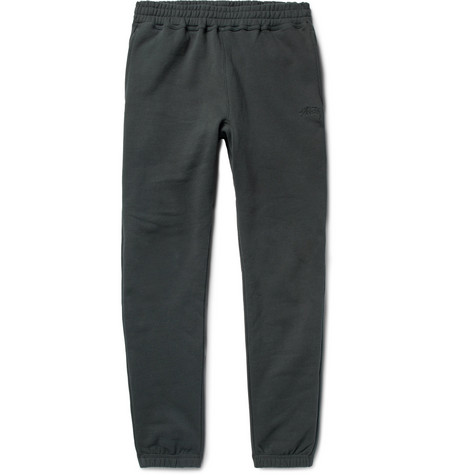 64a2441c39c6 Stussy Tapered Fleece-Back Cotton-Jersey Sweatpants In Black ...