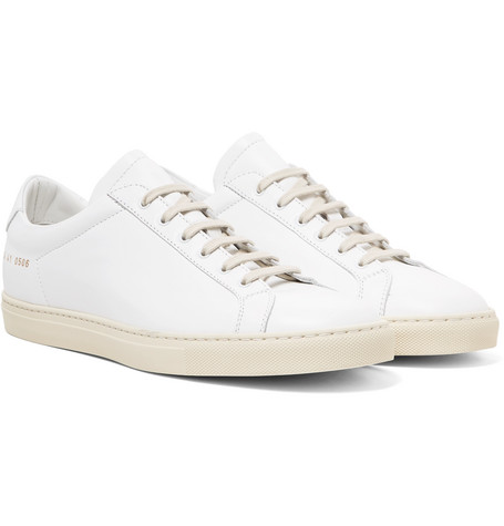 Achilles Retro Leather Sneakers - White