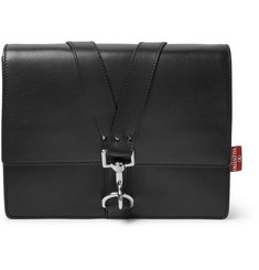 Valentino Studded Full-Grain Leather Messenger Bag