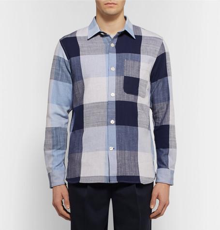 Checked Cotton Shirt by Club Monaco