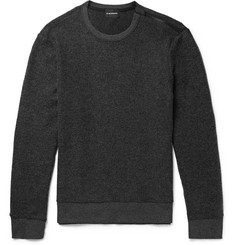 Club Monaco Slim-Fit Zip-Detailed Brushed-Fleece Sweatshirt