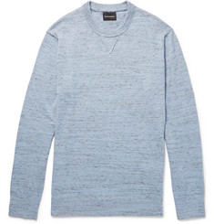 Club Monaco Slub Mélange Cotton-Blend Sweater