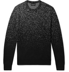 Club Monaco Splatter Birdseye Merino Wool Sweater