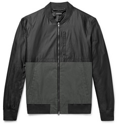 Club Monaco Two-Tone Cotton-Blend Bomber Jacket
