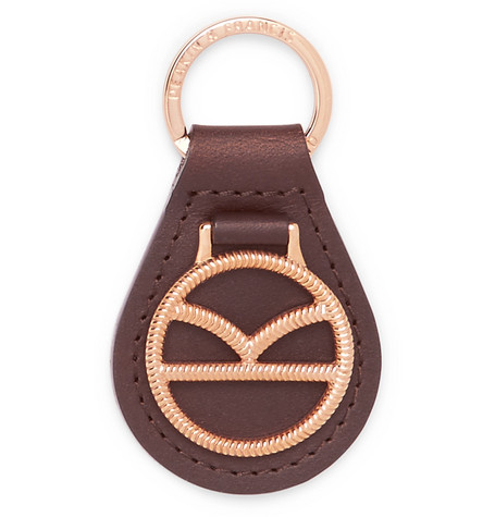 Kingsman + Deakin & Francis Leather And Rose Gold-plated Key Fob - Rose gold bcTnPYKt2p
