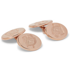 Kingsman + Deakin & Francis Rose Gold-Plated Sterling Silver Cufflinks