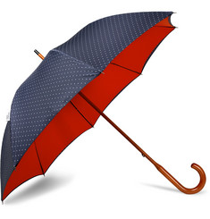 London Undercover - Polka-Dot Maple Wood-Handle Umbrella