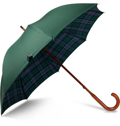 London Undercover - Black Watch Check-Lined Maplewood-Handle Umbrella