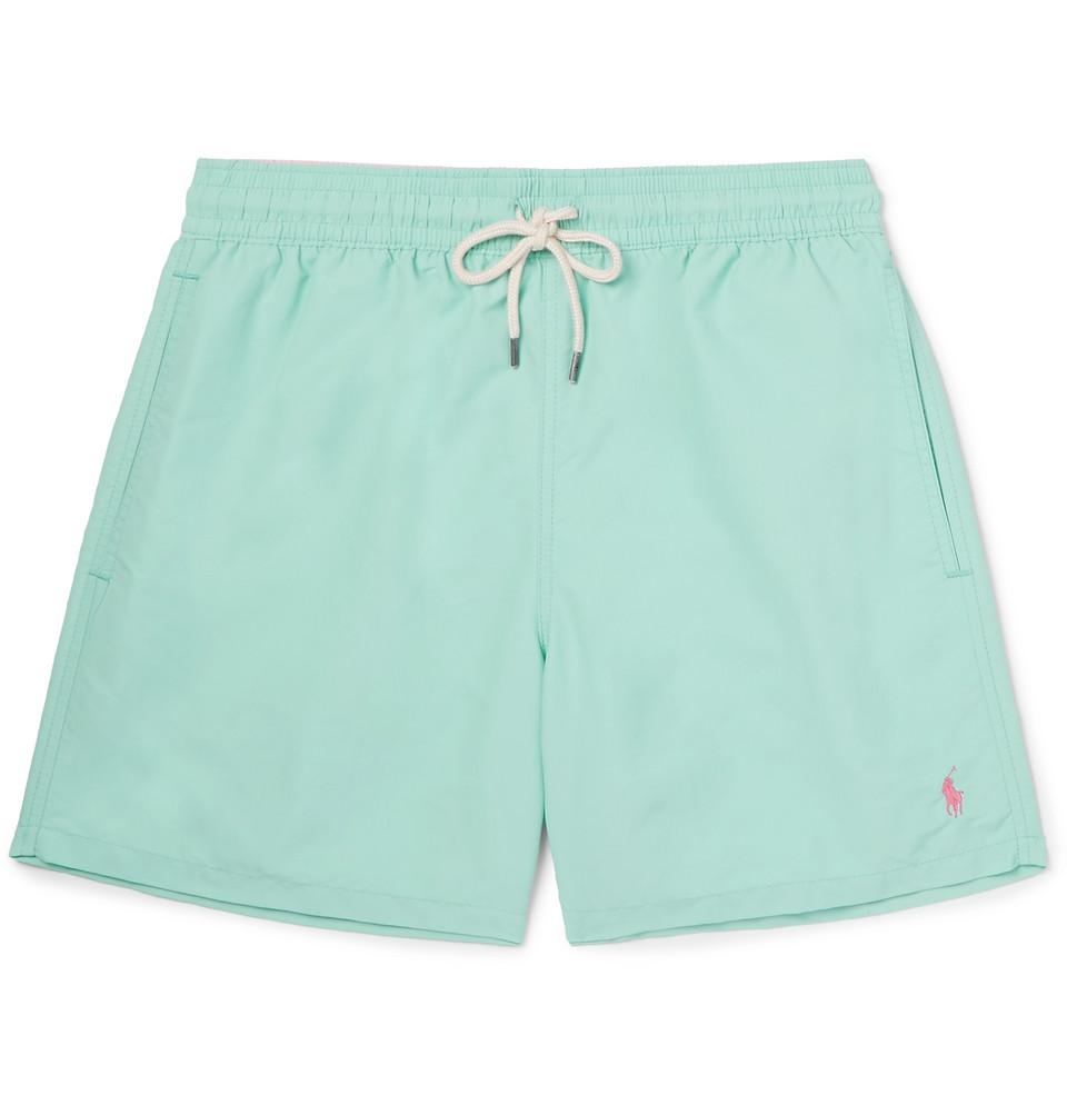 Traveller Mid-length Swim Shorts - Light green