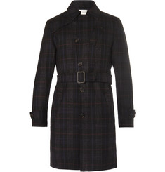 Oliver Spencer - Southgate Checked Wool-Twill Trench Coat