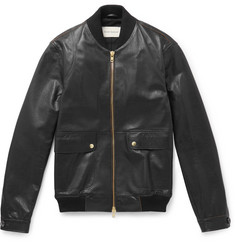 Oliver Spencer Leather Bomber Jacket