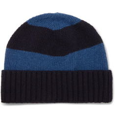 Oliver Spencer Striped Wool Beanie