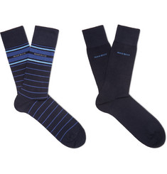 Hugo Boss Two-Pack Cotton-Blend Socks