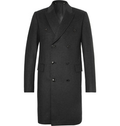 Paul Smith Double-Breasted Mélange Wool and Cashmere-Blend Overcoat