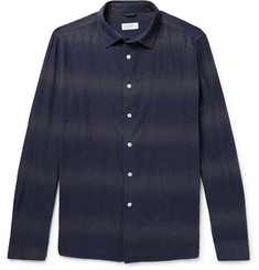 Saturdays NYC Laszlo Dégradé Striped Cotton Shirt