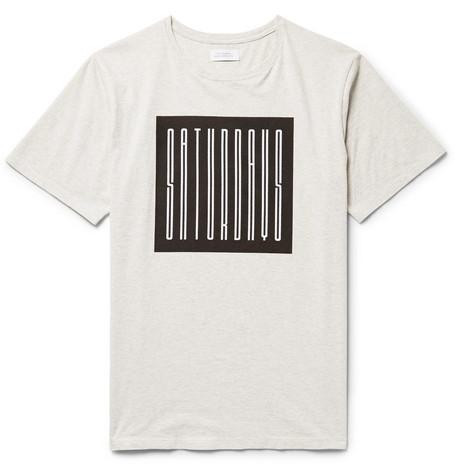 Rag Logo-print Cotton-jersey T-shirt - WhiteSaturdays Surf NYC Vente Pas Cher Prix Le Plus Bas 8NudeYw