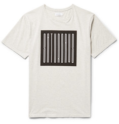 Saturdays NYC Super Condensed Printed Mélange Cotton-Jersey T-Shirt