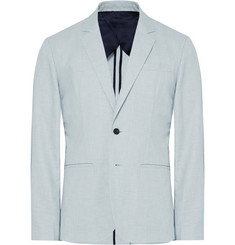 Saturdays NYC Sky-Blue Slim-Fit Unstructured Linen Suit Jacket