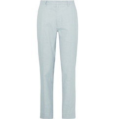 Saturdays NYC Sky-Blue Slim-Fit Linen Suit Trousers